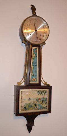 "Banjo Wall Clock –  ""Treasure Island"""