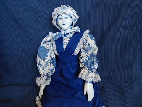 Blue and White Porcelain Doll