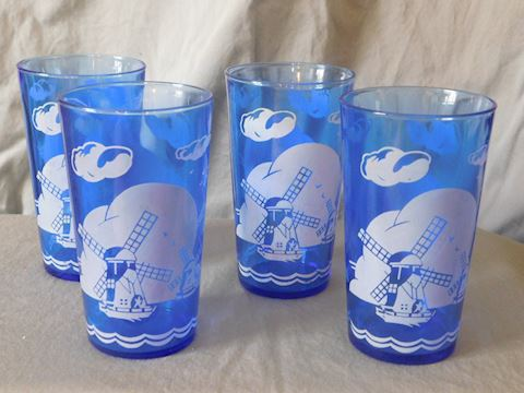four water tumblers