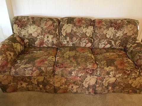 Quality 3-cushion sofa by C.R. Laine