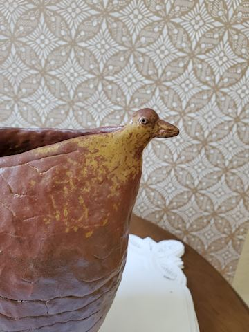 Handmade duck vessel