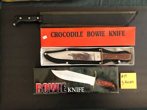 Collection of 3 Bowie Knives Lot 17