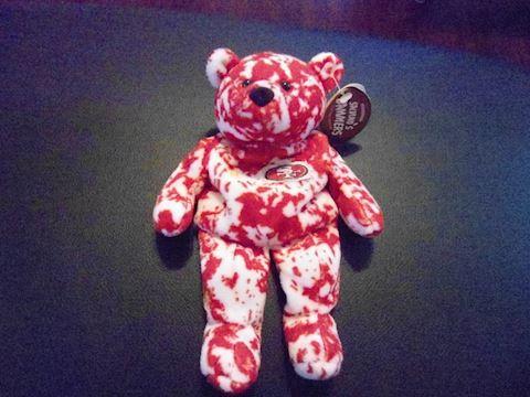 San Francisco Steve Young #8 Beanie Bear