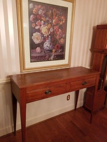 Antique Pine Sideboard with 2 drawers