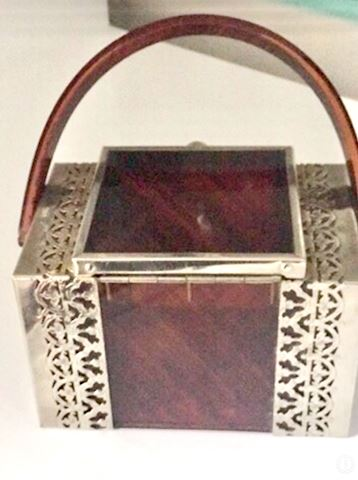 Lot 38 1920's vintage 5 silver meshed metal purses