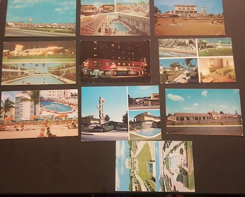 Collection of 10 Hotel/Motel Vintage Postcards