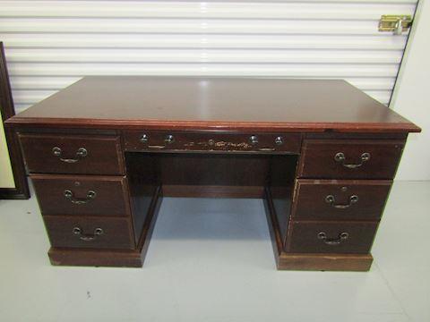 cherry finish desk