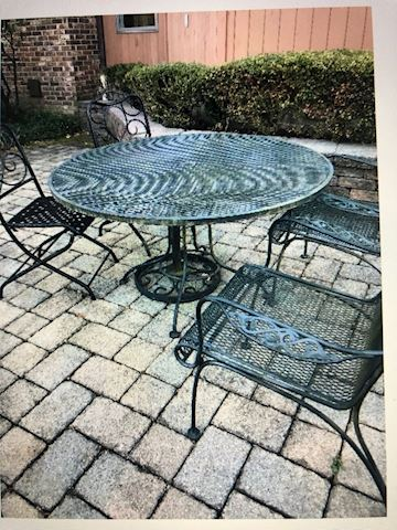 Iron Table and two chairs