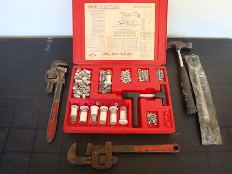 Thread repair, pipe wrench & misc tools Lot #141