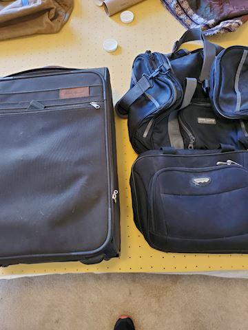 Gym, computer, and carry-on bag