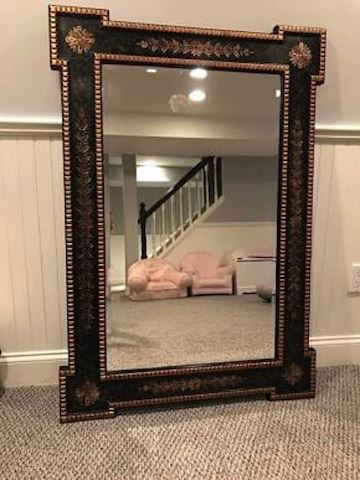 Decorative Black and Gold Wall Mirror