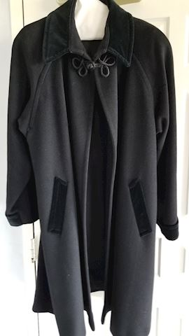 Women's black Sara Roberts wool coat
