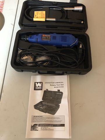 Rotary tool set, WEN model 2305