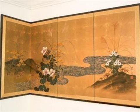 Vintage Asian 4 Panel Wall Art