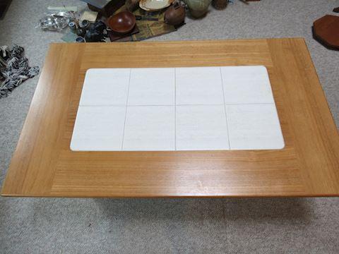 Modern High Quality Wood / Tile Coffee Table