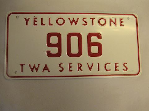 YELLOWSTONE Concessionaires License Plate