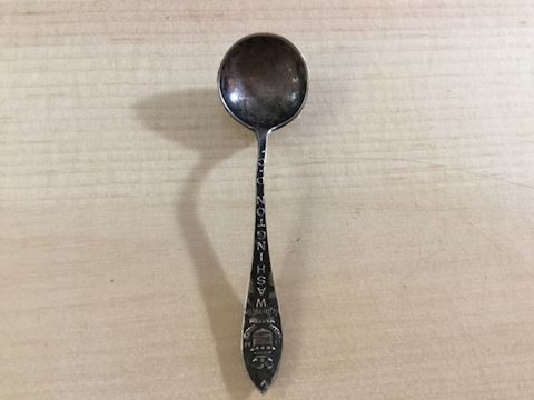 Washington DC 2.85 g sterling silver salt spoon