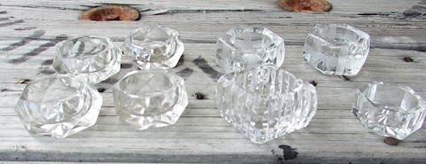 Lot of 8 Vintage Crystal Salts