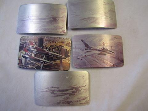 Five Fighter Pilot Belt Buckles