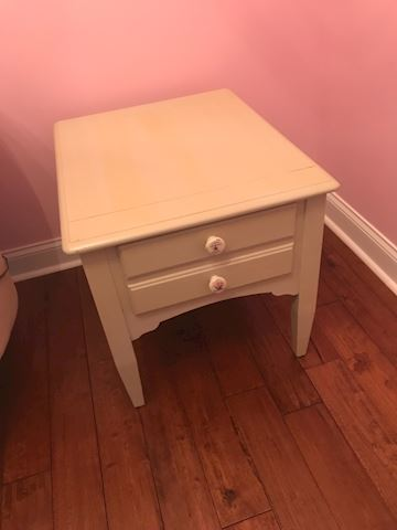 Cream end table
