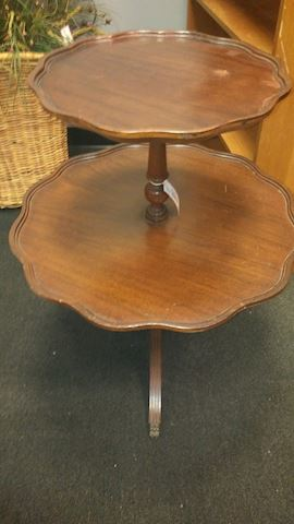 Antique 2-Tier Table - #2139