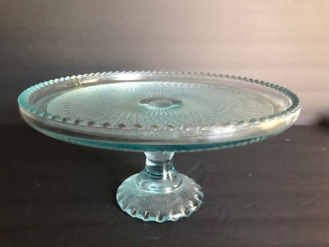 Vintage Glass Cake Stand Plate