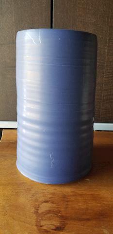 Blue Asian design pottery vase
