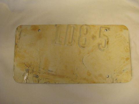1988 Offstrike Montana License Plate