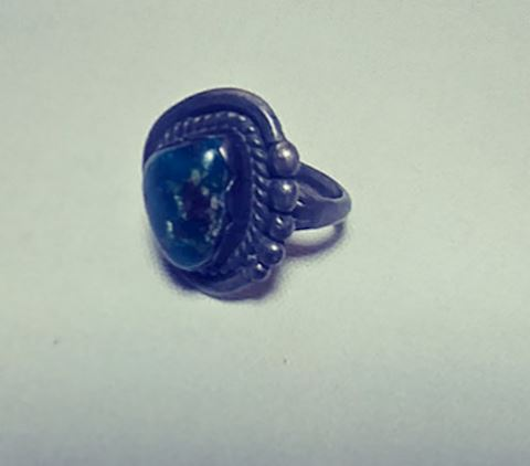 1950s Ring Sterling Silver Turquoise