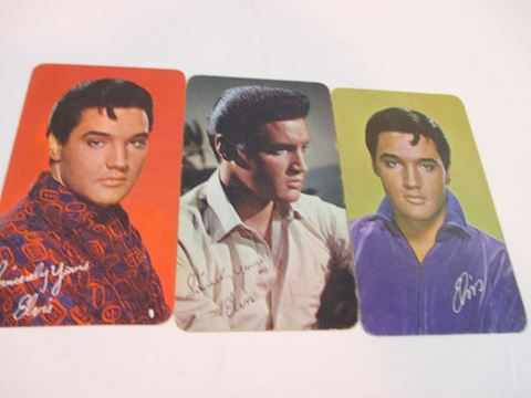 Lot of 3 Elvis Pictures card with Calendar