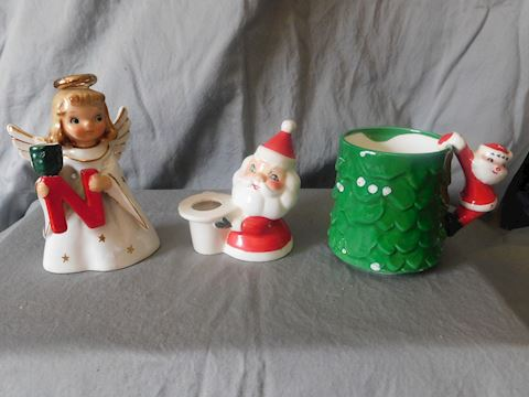 Angel, santa and mug