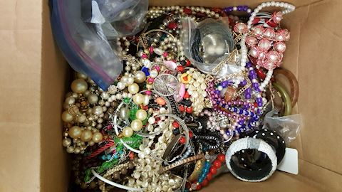 5 ppunds of Estate Costume Jewelry including Craft
