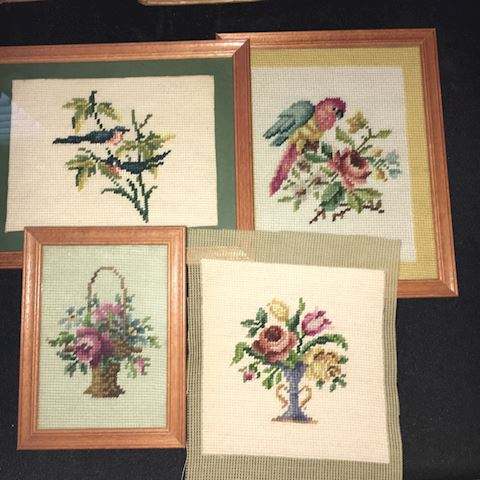 Four Needlework Pictures