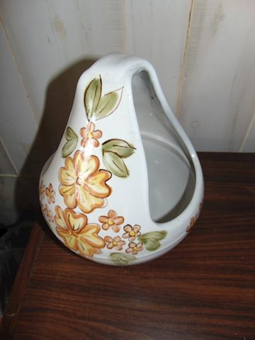 Louisville Pottery Flower Basket