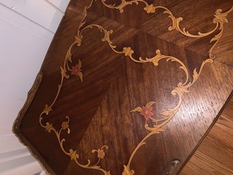 Small inlaid coffee table
