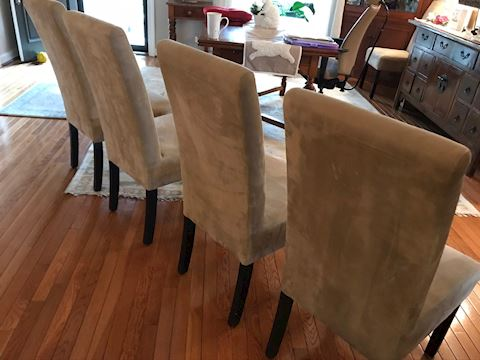 Tall Back Dining Chairs