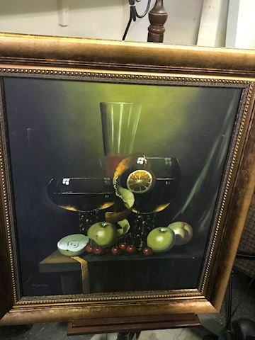 Still Life Oil Painting Signed Anthony Franzia