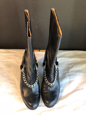 Pre-owned Blk Michael Kors high heel boots 7M