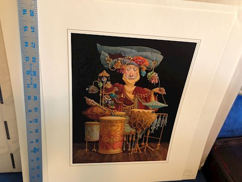 Piscatorial Percussionist by James C. Christensen