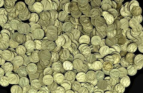Estate Collection of 200 Mercury Dimes