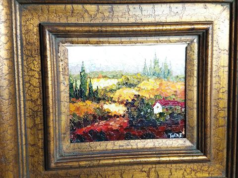 Original Oil on Canvas Painting Signed by Topaz