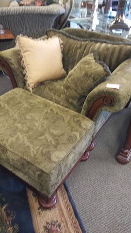 Chair with Ottoman - #4421