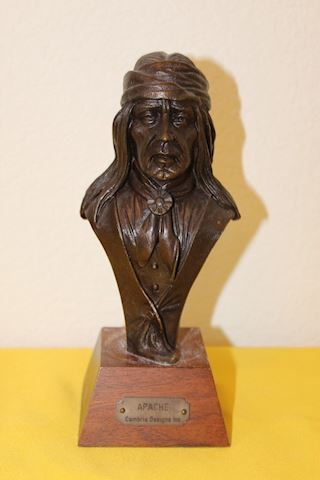Apache Native American Bronze Bust