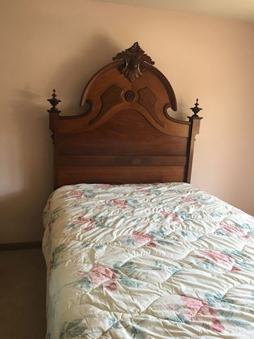 Antique Full Bed Headboard and frame