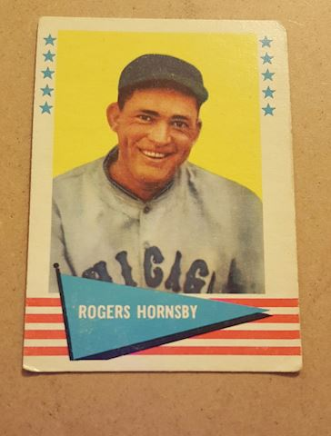 Old 1961 Rogers Hornsby Baseball Card #43