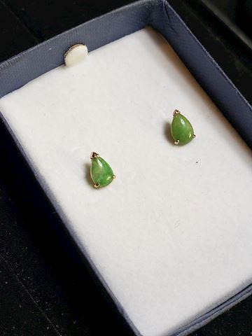 Jade Earrings in 14k gold