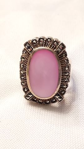 Sterling / marcasite ring