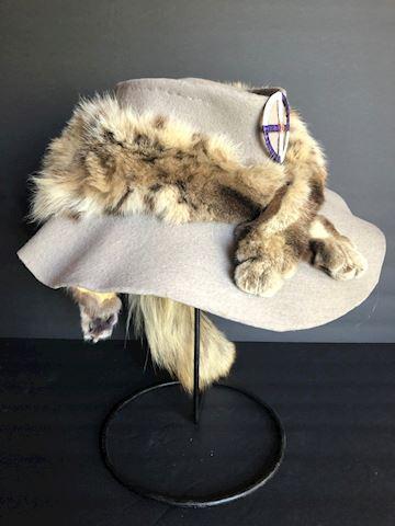 Animal Pelt Fur on Felt Hat