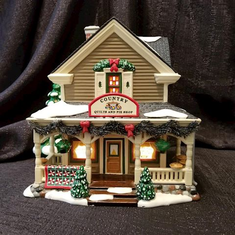 Department 56 Buck's County Country Quilts & Pies