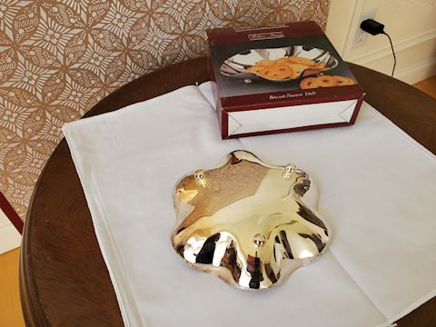 Silver plate biscuit dish